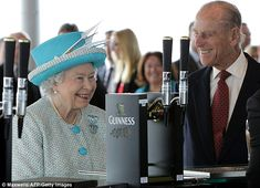Jolly consort: Her Majesty and Prince Philip at the Guinness Storehouse in Dublin during a four-day visit to Ireland last week