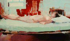 "alex kanevsky: ""peggy's bed"" oil on canvas 29x47"
