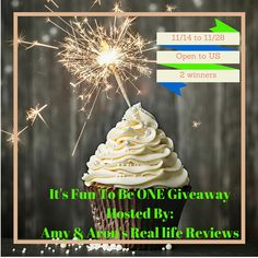 Fun To Be ONE Giveaway 2 Lucky Winners ***2 Amazing Prize Packs ***$850+ in Prizes 11/14 to 11/28 Open to US