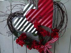 Valentine Wreath, Valentine Decorations, Valentine Heart, Valentine Gifts, Twig Wreath, Heart Wreath, Thanksgiving Wreaths, Holiday Wreaths, Wreaths For Front Door