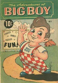 "Big Boy Restaurants (and affiliated companies) ""Adventures of the Big Boy"" activity/comic books Vintage Signs, Vintage Ads, Vintage Images, Vintage Posters, Weird Vintage, Retro Posters, Vintage Food, Vintage Ephemera, Vintage Photographs"