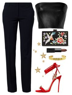 """""""SINGLE & READY TO MIGLE"""" by kydhill ❤ liked on Polyvore featuring Edie Parker, NARS Cosmetics, David Koma, Dsquared2, Benetton, NewYears, Leather, party and partystyle"""