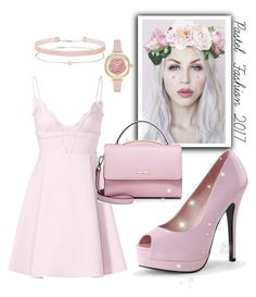 """""""Pastel Fashion"""" by d-fashion98 ❤ liked on Polyvore featuring Lulu in the Sky, Giambattista Valli, WithChic, Kate Spade and Miss Selfridge"""