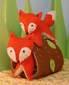 Frisky Foxes, Felt Stitching Kit. $19.95, via Etsy.