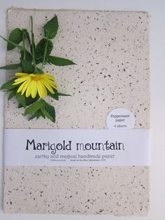 4 Organic peppermint Herb paper sheets by marigoldmountain on Etsy