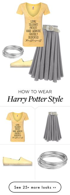 """""""hufflepuff"""" by once-upon-a-anothers on Polyvore featuring Sam Edelman and Worthington"""