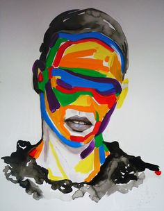 """Sandra Chevrier """"La Cage quand le gris reprend espoir"""" (When Greyness Overtakes Hope), Acrylic, china ink, pastels, vellum - Sandra Chevrier currently lives in Montreal, Quebec, Canada. Her work exposes the limitations within our world, our self-imposed expectations & the cages we have allowed to bar us from fullness of life's experience / http://www.sandrachevrier.com"""