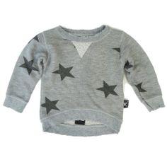 Grey Star Sweatshirt by NUNUNU