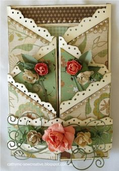 Double Zig Zag Card by Cathy Mc - Cards and Paper Crafts at Splitcoaststampers
