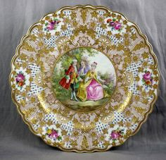 Carl Thieme, Dresden Porcelain (Germany) —  Scenic Cabinet Plate (725x700)