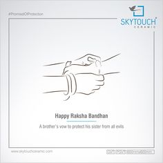A brother's vow to his sister from all evils. Raksha Bandhan Quotes, Rakhi Cards, Rakhi Festival, Independence Day Poster, Happy Rakhi, Rath Yatra, Sanskrit Quotes, Happy Rakshabandhan, Festival Flyer
