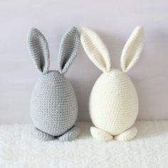 Króliczek dekoracyjny duży Bunny Nursery, Nursery Decor, Crochet Mandala Pattern, Crochet Patterns, Crochet Ideas, Easter Crochet, Easter Crafts, Baby Knitting, Crochet Projects