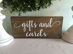 gifts and cards sign cards sign rustic wooden by WoodSignStudio