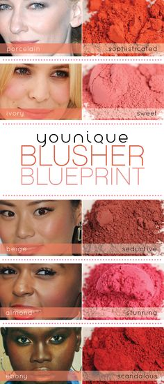 The Younique Blusher Blueprint  https://www.youniqueproducts.com/OMGLashes #youniqueproducts #beauty #mineralmakeup