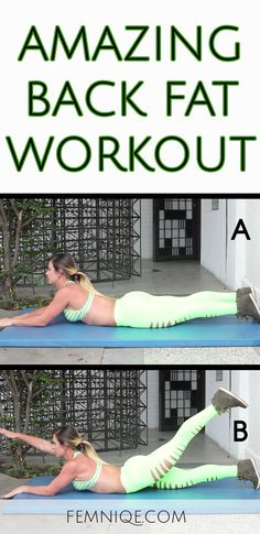 How To Get Rid Of Back Fat Exercises At Home Fast - If you want to lose back fat them here is a underarm flab/back fat exercise you can do!