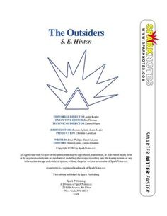 """a literary analysis of the outsiders Summary introduction in this book analysis, about the book """"the outsiders"""" by s e hinton i will discuss character and plot development, as well as the setting, the author's style and my opinions about the book in this part of the analysis i will give some information about the subjects of the book, and about the author."""