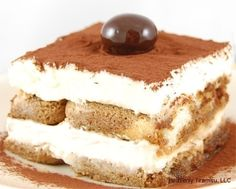 This tiramisu recipe is a variation of a the recipe that at one time apparently accompanied small bottles of Godiva Liqueur. You will need souffle dishes