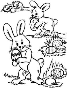 Free Easter Coloring ==>FRENCH coloriage Pâques gratuit Make your world more colorful with free printable coloring pages from italks. Our free coloring pages for adults and kids. Easter Coloring Pictures, Free Easter Coloring Pages, Easter Bunny Colouring, Easter Egg Coloring Pages, Cool Coloring Pages, Cartoon Coloring Pages, Free Printable Coloring Pages, Coloring Books, Adult Coloring