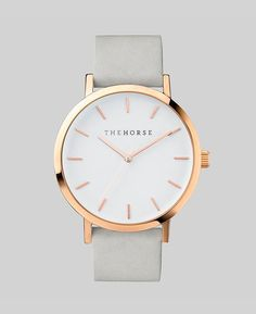 The Original Watch | Polished Rose Gold / White Face / Grey Band | The Original  | The Horse