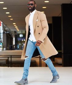 Now boarding - Tap the link to shop on our official online store! You can also join our affiliate and/or rewards programs for FREE - Men's Style & Fashion Most Popular Black Men Style The black men fashion is evergreen and the black men just love to wear Fashion Mode, Suit Fashion, Look Fashion, Autumn Fashion, Black Men Fall Fashion, Fashion Rings, Fashion Boots, Fashion Check, Travel Fashion