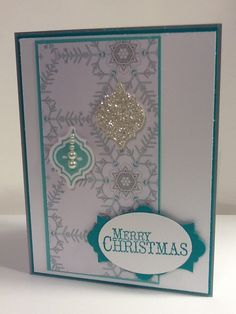 Stampin Up Winter Frost DS paper and Mosaic Madness stamp set.