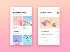 Music App designed by xiaoniaojiu. Connect with them on Dribbble; the global community for designers and creative professionals. Web And App Design, Material Design, Ui Design Mobile, Card Ui, App Design Inspiration, Music App, Interface Design, Interactive Design, Iphone