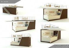Contenedor comercial / para bar / para comercio / para restaurante Euroelement Ltd. #CasaContenedor