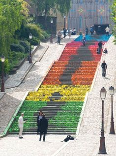 Streets Filled With Origami, by Mademoiselle Maurice
