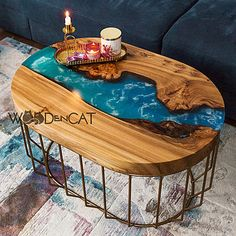 Epoxy Resin Table, Luxury Kitchen Design, Loft Design, Resin Art, Console Table, Wood Projects, Boho, Diy, Furniture