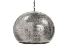 Pierced Metal Sphere Pendant  for the dining room.  hang low over the table