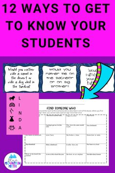 Looking for some ideas to start the year and get to know your students? Check out the latest blog post for 12 of my favorite activities as well as a freebie.