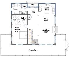 converted barn house plans | Yankee Barn Homes floor plans for a cottage named The Sunapee