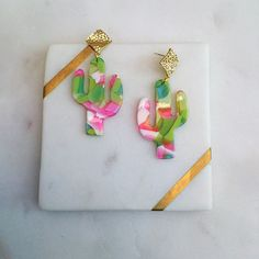 Excited to share this item from my #etsy shop: Pink Green Cactus Resin Acetate Gold Diamond Stud Fashion Dangle Earrings Handmade - Gifts For Her - Cactus Earrings - Statement Earrings Statement Earrings, Dangle Earrings, Cactus Earrings, Handmade Gifts For Her, Green Cactus, Earrings Handmade, Pink And Green, Dangles, Etsy
