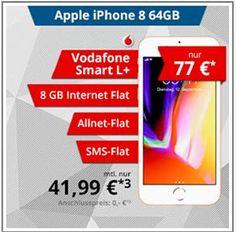 8GB LTE Vodafone Smart L Plus mit Apple iPhone 8 für 77€