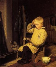 """""""The difficult word"""", 1820. Jacques-Laurent Agasse (1767-1849). Oil on canvas. Private Collection."""