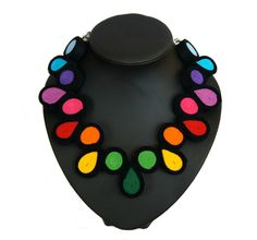 Beautiful and original beads made by hand from colour felt are the object of sale with laborious quillingu technology (of rolling up),, a total length of beads is a c 36 cm + 10 cm of the...