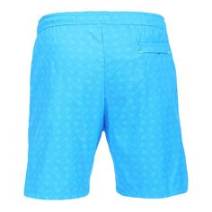 LIDO 2 MID-LENGHT BOARDSHORTS COLOR LIGHT BLUE Made in Italy light blue Jacquard nylon LIDO 2 mid-length boardshorts. Two front pockets and a small press stud pocket featuring an hexagonal metal decoration. Back pocket. Internal net. Elastic waistband with adjustable drawstring. COMPOSITION: 100% POLYAMIDE. Model wears size L he is 189 cm tall and weighs 86 Kg.