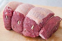 Roast Beef Recipe - marinade in red wine first