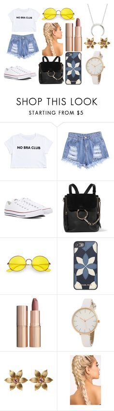 """10"" by kfhfkkb on Polyvore featuring мода, Converse, Chloé, Ray-Ban, Michael Kors и Charlotte Tilbury"