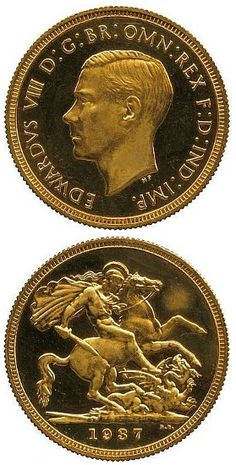 Edward VIII Gold Sovereign breaks world record price for British coin