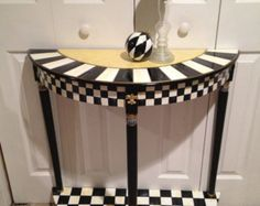 Whimsical Painted Table // Painted Pedestal Table, Whimsical Painted Furniture…