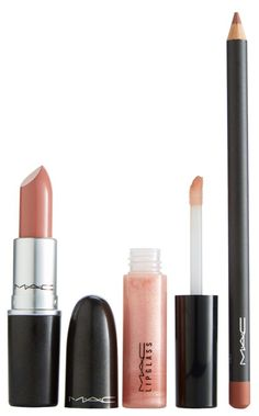 This M·A·C lip kit features a trio of modern neutral-hued products to create a statement lip for pout perfection.