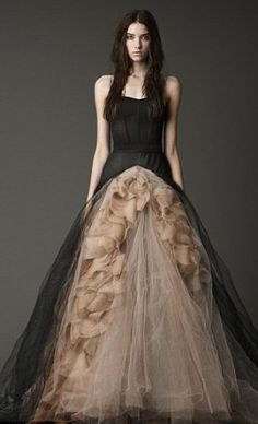 Vera Wang - My soon to be Daughter-in-law would look so good in this!! She & Devon are getting married in October of 2012 and she wants a black wedding dress. This would be perfect.