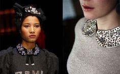 El collar Peter Pan está instaurando en el street style. Y seguirá teniendo vida gracias a la pasarela de Dolce & Gabbana en su colección Fall 2016 Couture.
