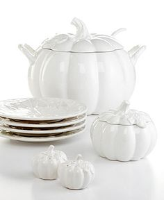 Martha Stewart Collection Serveware, Figural Pumpkin Collection - Serveware - for the home - Macy's