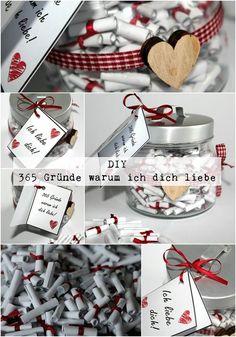 Diy 365 Gründe Warum Ich Dich Liebe Anleitung Basteln Selbermachen