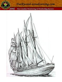 Ship for Pyrography Print