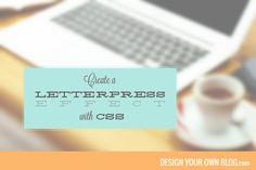 Create a Letterpress Effect using CSS