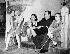On the set of The Lady Vanishes (1938)