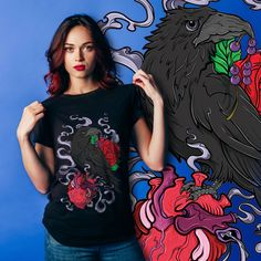 Match your mood corvidculture.com #CorvidCulture #MatchYourMood #LonelyHeart #Crow #Heart #Turquoise #Designers #AlternativeFashion